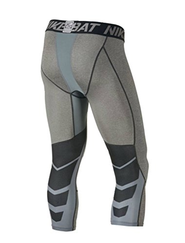 NIKE Herren Hose Cool Compression Tights Grigio (Carbon Heather)