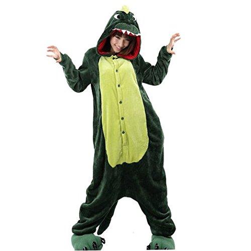 er Karton Fasching Halloween Kostüm Sleepsuit Cosplay Fleece-Overall Pyjama Schlafanzug Erwachsene Unisex Lounge Nachtwäsche S/M/L/XL (S, Dino) (Pikachu-strampler)
