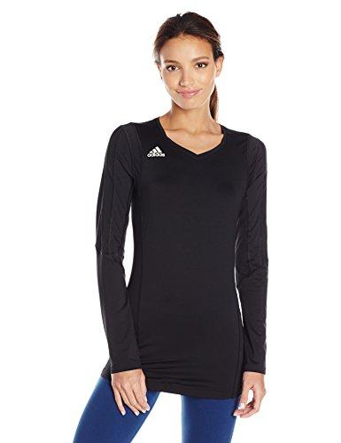 ADIDAS Damen Volleyball Quickset Long Sleeve Jersey, Damen, schwarz/schwarz, XX-Small