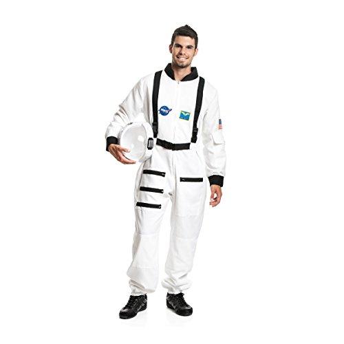 Kostümplanet® Astronauten-Kostüm Herren Kostüm Astronaut Weltraum Raumfahrer Größe XXL