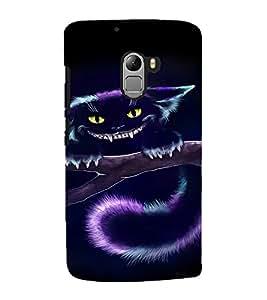 EPICCASE Scary Cat Mobile Back Case Cover For Lenovo Vibe K4 Note (Designer Case)