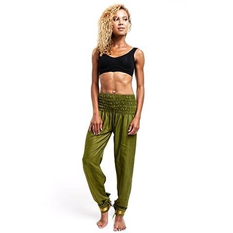 Limber Stretch Long Dance and Yoga Cotton Harem Pants