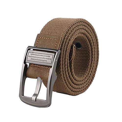 Irypulse Hombres Mujeres Cinturón Trenzado de Lona Cuero de PU Tela para Hebilla giratoria del vintage con Cinturones de Unisex Adecuado para el ocio Formal Negocios Fiesta