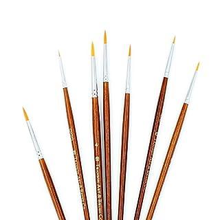 7-teilig Künstler Pinsel Fein Pinsel für Acryl Aquarell Ölgemälde, braun