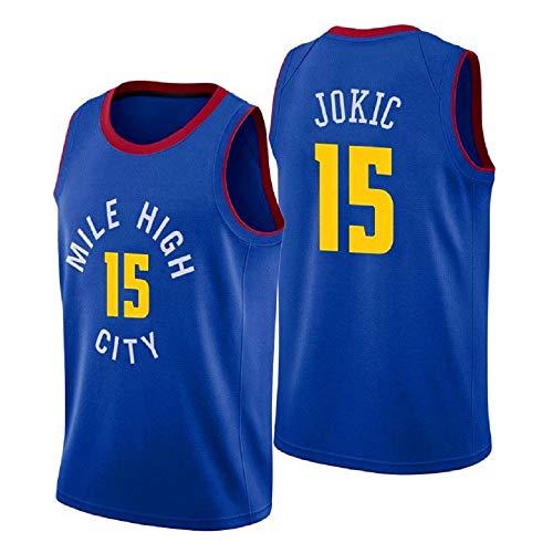 Herren-Basketballtrikots, NBA Denver Nuggets 15# Nikola Jokic Sommerwesten Oberteile Ärmellose T-Shirts (Größe: S-XXL)