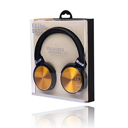 MNBEEJHVHDJ Kopfhörer, kabelloser Bluetooth-Kopfhörer, Sport Musik Stereo-Kopfhörer, gelb