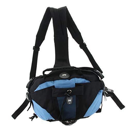 perfk Sport Rucksack Aufbewahrungstasche für Rollschuhe oder Inline Skates, schwarz - Blau
