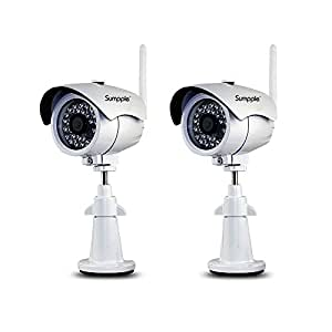 sumpple 2x s631 cam ra ip de surveillance wifi filaire. Black Bedroom Furniture Sets. Home Design Ideas