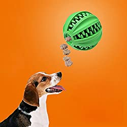 Tofree Weiches Gummi-Spielzeug IQ Leckerli-Ball für Hunde und Katzen, ungiftig, Starke Zahnreinigung, Hundefutter Ball für Hunde und Katzen