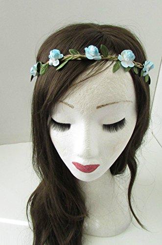 Bleu clair Rose cheveux fleur couronne bandeau Guirlande Boho festival tressé B14 * * * * * * * * exclusivement vendu par – Beauté * * * * * * * *