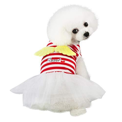 Xmiral abiti cani abiti cani taglia piccola abiti cani divertenti abiti cani taglia media abiti cani cerimonia cani vestiti cani vestiti femmina cani xl rosso