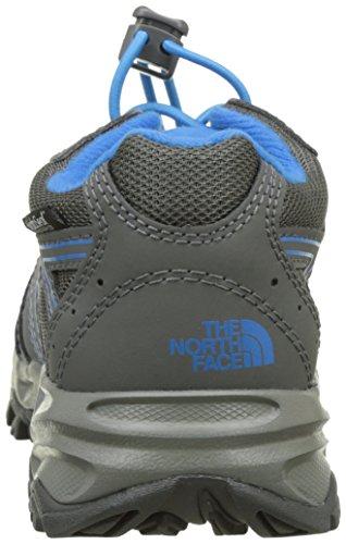 The North Face Hedgehog Hiker Waterproof, Chaussures de Randonnée Basses Mixte Enfant Multicolore (Graphite Grey/brilliant Blue)