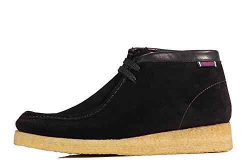 Sebago Koala Shoes Stivaletti Stringati B161214 Shoes Black - Scarpe Nere In Pelle Scamosciata