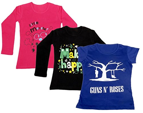 3794b1fa1f674 IndiWeaves Girls 2 Cotton Full Sleeves and 1 Half Sleeves .