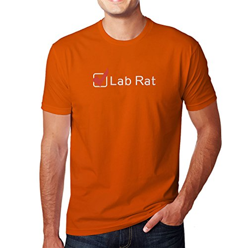 Planet Nerd - Lab Rat - Herren T-Shirt Orange