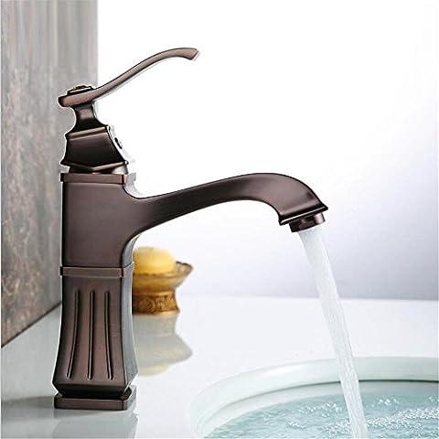 Modylee Negro cepillado cuenca grifo cascada níquel negro grifo baño fregadero grifo mezclador caliente y en frío grifo lavabo mezclador grifo alta