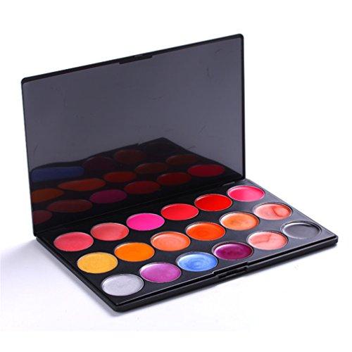 Pure Vie® 18 Couleurs Palette de Maquillage Rouge à Lèvres Lip Gloss Cosmétique Set - Convient Parfaitement pour une Utilisation Professionnelle ou à la Maison
