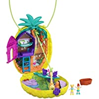 Polly Pocket Coffret Sac à Surprises avec mini-figurines Polly et Lila, accessoires et autocollants, jouet enfant, édition 2020, GKJ64