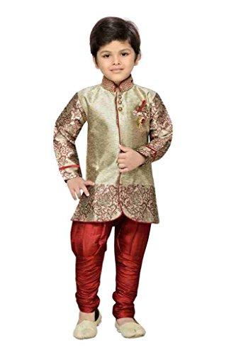 AJ Dezines Kids Party Wear Suit Set for Boys (828_MAROON_7)
