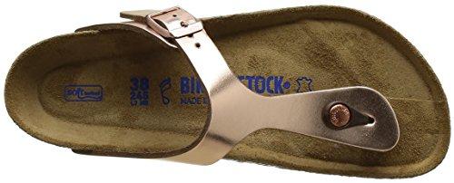 Birkenstock Gizeh, Tongs Femme Bronze (Metallic Copper Soft Footbed)
