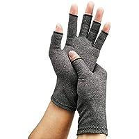 ClookYuan Hands Arthritis Cotton Gloves Therapeutic Compression Men Woman Circulation Grip Compression Arthritis Gloves - Gray M