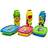 LAXMI COLLECTION (PACK OF 3) GIFT SET OF LUNCH BOX WITH WATER BOTTLE