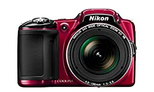 Nikon Coolpix L830 16 MP Point and Shoot Camera (Red) with 34x Optical Zoom, 8GB Card and Camera Case