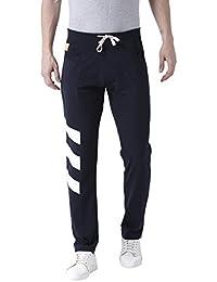 Club York Men Navy Blue Cotton Blended Track Pant