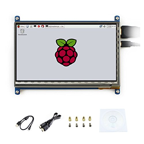 7 pouces C LCD 1024*600 Rev2.1 écran tactile Win10 HDMI interface capacitif Monitor Display Pour Raspberry pi3/2 B/B+/A