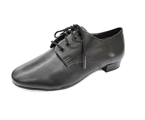 beginners-full-lace-up-pvc-tap-shoe-black-size-uk-1-eu-33