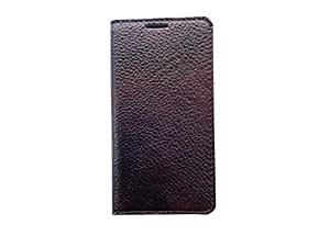 ATV Genuine Leather DARK BROWN Book Case Cover With Built In Stand For Xiaomi Mi 4