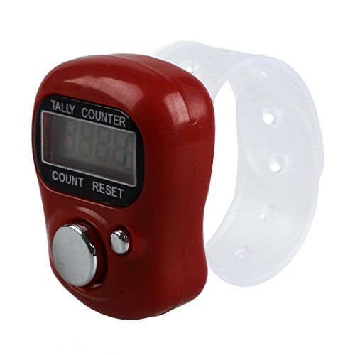 TOOGOO(R) Mini LCD elektronische Digitalanzeige Finger Hand Zaehler Zaehlwerk Zaehlen -rot -