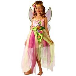 Cesar F243-002 - Costume per travestimento da fatina della primavera, versione Deluxe, da 5 a 7 anni