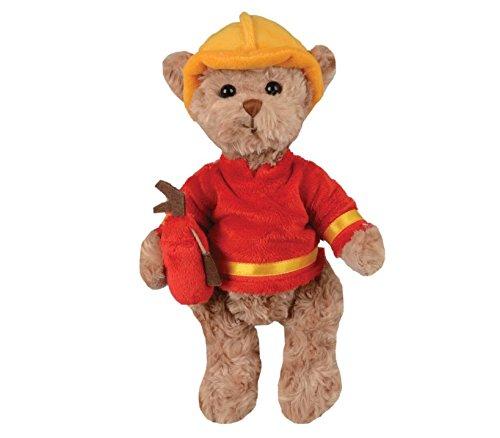 eddybär Teddybär Kristoffer Feuerwehrmann 25 cm, braun/gelb/rot, Plüschteddybär (Feuerwehrmann Rot)