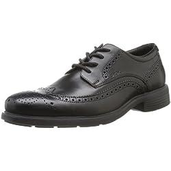 Geox U DUBLIN B, Scarpe eleganti uomo, Nero (BLACKC9999), 39