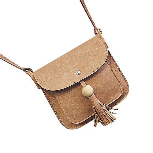 Longra Pelle modo delle donne nappe borsa a tracolla a spalla Rosa
