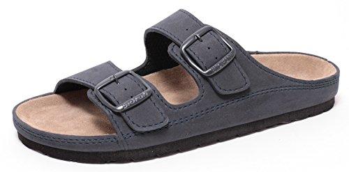 Herren Bio Clogs Tieffußbett Pantolette Sandale Slipper Schuhe NAVY BLAU Gr.41-45 (42)
