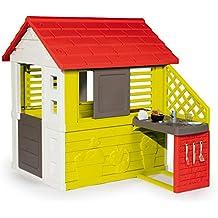 Smoby Casa Infantil Nature II con Cocina y Accesorios (810713), Color Verde (
