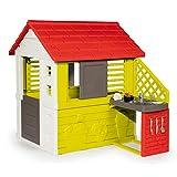 Smoby Casa 810713 Nature II mit Küche und Zubehör, Grün