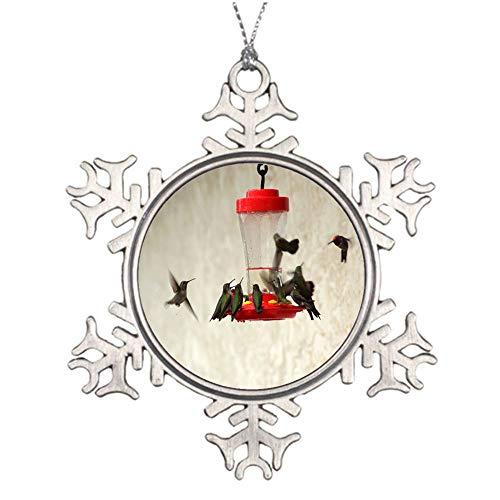 YANAN Birds Feeders Drinkers Hummingbirds Ornaments Custom Pendant Decorative Souvenirs Mobile Phone Decorative Handbags Decorative Metal Snowflake Ornaments -