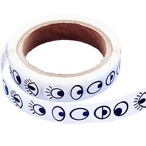 FEKETEUKI Adhesive Eye Stickers Kinder handgemachte DIY schwarz-weiße Farbe Augapfel Aufkleber Aktivität kreative Eye Stickers-Black & Blue-1 Größe
