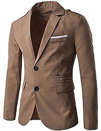 QIYUN.Z Los Hombres Del Juego Del Vestido Ocasional Adelgaza Dos Abrigos Chaquetas Botón De La Chaqueta