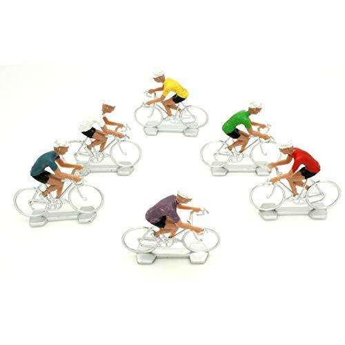Les Colis Noirs LCN - Sachet de 6 Figurine Coureur Cycliste - Décoration Jouet Collection Vélo - 050