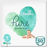Pampers Pure Protection, Size 1, 2-5 kg, 50 Diapers
