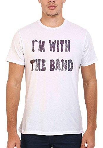 I Am With The Band Music White Weiß Men Women Damen Herren Unisex Top T-shirt Weiß