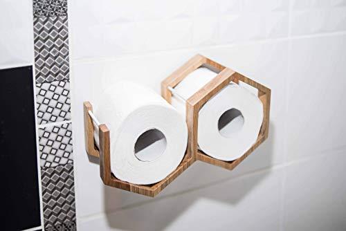 Soporte de rollo de papel higiénico estante de baño soporte de papel...