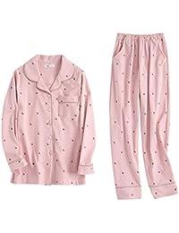Pijamas Primavera y otoño Los Modelos de algodón de Manga Larga se Pueden Usar en el