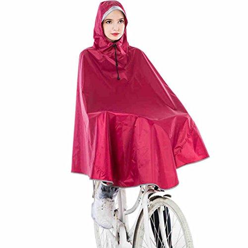 Vélo Poncho adulte Augmenter hommes épaississement et femmes Tour Transparent Big Hat individuel de l'élève Imperméable Veste imperméable ( couleur : # 1 ) N ° 4