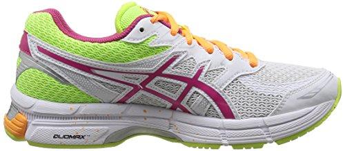 ASICS Gel-Phoenix 6,  Running Entrainement Femmes Blanc (White/Hot Pink/Flash Yellow 120)