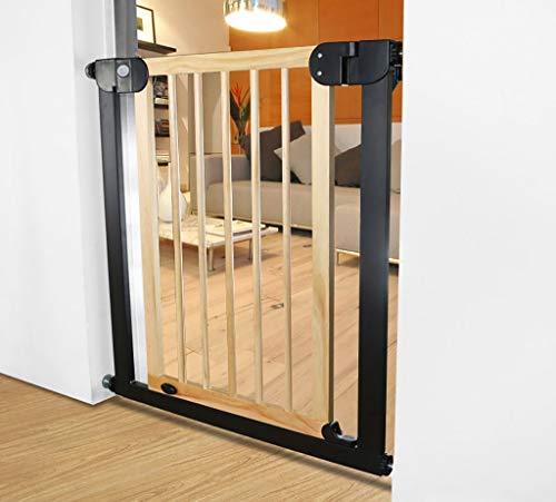 Tür- & Treppengitter Erweiterbares Haustier-Tor-Holz Für Katze/Hund-Druck-Berg 76-83cm, Sicherheits-Baby-Tor Für Tür Mit Tür Durchgehend, Holzfarbe (größe : 132-139cm) -